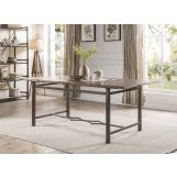 Acme Furniture Lynlee Dining Table in Weathered Dark Oak and Dark Bronze 60015