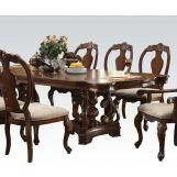 Acme Frederick Double Pedestal Dining Table in Cherry 60360