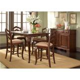 Liberty Furniture Woodland Creek 5 Piece Gathering Dining Set in Rust Russet