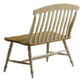 Liberty Furniture Al Fresco Slat Back Bench in Driftwood/ Taupe 541-C9000B