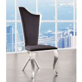 ACME Cyrene Faux Fabric Side Chair (Set of 2) in Stainless Steel 62079 EST SHIP TIME IS 4 WEEKS