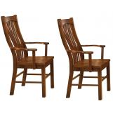 A-America Laurelhurst Slatback Arm Chair in Mission Oak (Set of 2) LAUOA276K CODE:UNIV20 for 20% Off