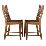 A-America Laurelhurst Slatback Barstool in Mission Oak (Set of 2) LAUOA375K CODE:UNIV20 for 20% Off