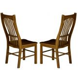 A-America Laurelhurst Slatback Side Chair in Rustic Oak (Set of 2) LAURO275K CODE:UNIV20 for 20% Off