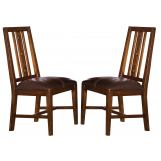 A-America Mesa Rustica Slatback Side Chair in Aged Mahogany (Set of 2) MESAM265K