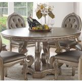 Acme Furniture Northville Round Dining Table in Antique Champagne 66915
