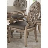 Acme Furniture Northville Side Chair in Antique Champagne (Set of 2) 66922 EST SHIP TIME IS 4 WEEKS