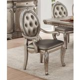 Acme Furniture Northville Arm Chair in Antique Champagne (Set of 2) 66923