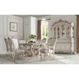 Acme Furniture Gorsedd 9pc Dining Room Set in Antique White