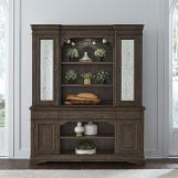 Liberty Furniture Homestead Buffet with Hutch in Burnished Sage