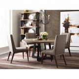 American Drew AD Modern Synergy Concentric 5-Piece Round Dining Room Set