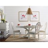 Rachael Ray Home Everyday Dining 5pc Round Pedestal Dining Set in Sea Salt