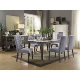 Acme Furniture Merel 7pc Rectangular Dining Set in White and Gray