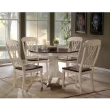 Acme Furniture Dylan 5pc Round Dining Set in Buttermilk and Oak