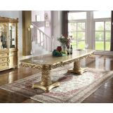 Meridian Furniture Bennito Dining Table in Rich Gold 703-T