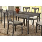 Acme Furniture Wallace Rectangular Dining Table in Weathered Gray 71435 EST SHIP TIME IS 4 WEEKS