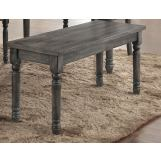Acme Furniture Wallace Bench in Weathered Gray 71438 EST SHIP TIME IS 4 WEEKS