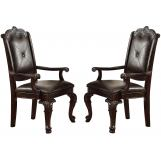 Crown Mark Kiera Dining Arm Chair in Warm Brown (Set of 2) 2150A CLEARANCE