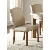 Acme Furniture Parker Side Chair in Khaki and Salvage Oak (Set of 2) 71742