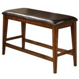 Crown Mark Figaro Bench in Warm Medium Brown 2701-BENCH