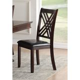 Acme Furniture Katrien Side Chair in Black and Espresso (Set of 2) 71857 EST SHIP TIME IS 4 WEEKS