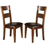 Crown Mark Figaro Side Chair in Warm Medium Brown (Set of 2) 2101S