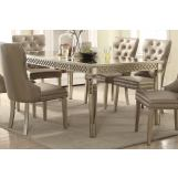 Acme Furniture Kacela Dining Table in Mirror and Champagne 72155