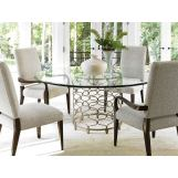 Lexington Laurel Canyon 5pcs Bollinger Dining Room Set in Silver