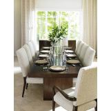 Lexington Laurel Canyon 11pcs Rectangular Dining Room Set in Rich Mocha