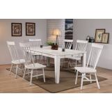ACME Adriel 7PC Dining Room Set in White Gray