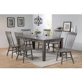 ACME Adriel 7PC Dining Room Set in Dark Gray