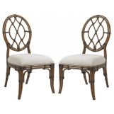 Tommy Bahama Bali Hai Cedar Key Oval Back Side Chair (Set of 2) 593-886-01