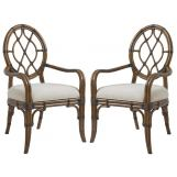 Tommy Bahama Bali Hai Cedar Key Oval Back Arm Chair (Set of 2) 593-887-01