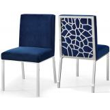 Meridian Opal Velvet Dining Chair in Navy (Set of 2) 736Navy-C