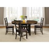 Liberty Furniture Bistro 5 Piece Oval Pedestal Dining Set in Honey/Espresso