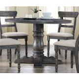 Acme Furniture Wallace Round Pedestal Dining Table in Weathered Gray 74640 EST SHIP TIME IS 4 WEEKS