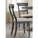 Acme Furniture Wallace Side Chair in Light Brown and Weathered Gray (Set of 2) 74642 EST SHIP TIME IS 4 WEEKS