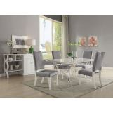 Acme Furniture Martinus 5pc Rectangular Dining Set in High Gloss White