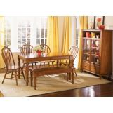 Liberty Furniture Low Country 6pc Casual Dining Room in Suntan Bronze Finish 76-CD
