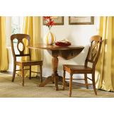 Liberty Furniture Low Country 3pc Drop Leaf Pedestal Table Set in Suntan Bronze Finish 76-T4N