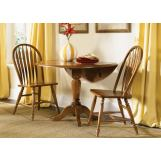 Liberty Furniture Low Country 3pc Drop Leaf Pedestal Table Set in Suntan Bronze Finish 76-T4W