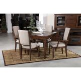 Kincaid Furniture Solid Wood Elise 5pc Leg Dining Set in Amaretto Finish