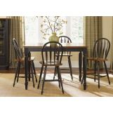 Liberty Furniture Low Country 5pc Gathering Table Set in Anchor Black with Suntan Bronze Finish 80-GT