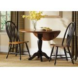 Liberty Furniture Low Country 3pc Drop Leaf Pedestal Table Set in Anchor Black with Suntan Bronze Finish 80-TW