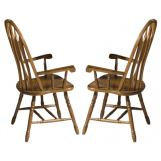 Intercon Furniture Classic Oak Detailed Arrow Back Arm Chair (Set of 2) in Burnished Rustic