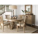 Lexington Monterey Sands 5-pc San Marcos Dining Table and Alameda Chairs Set in Sandy Brown