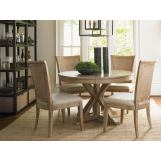 Lexington Monterey Sands 5-pc San Marcos Dining Table and Los Altos Side Chairs Set in Sandy Brown