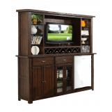 ECI Furniture Gettysburg Bar with Entertainment Hutch in Dark Distressed 1475-05-EBB-EH