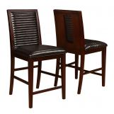Coaster Chester Counter Height Chair in Bitter Chocolate (Set of 2) 105727 CLEARANCE