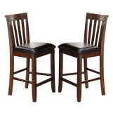 New Classic Furniture Wilson Counter Chair in Burnished Cherry D0226-22 (Set of 2)